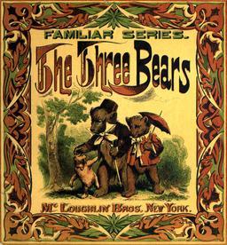 Le conte anglais des trois ours en 1888, couverture. Source : http://data.abuledu.org/URI/534875f4-le-conte-anglais-des-trois-ours-en-1888-couverture