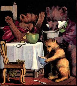 Le conte anglais des trois ours en 1888, p. 11. Source : http://data.abuledu.org/URI/53487795-le-conte-anglais-des-trois-ours-en-1888-p-11