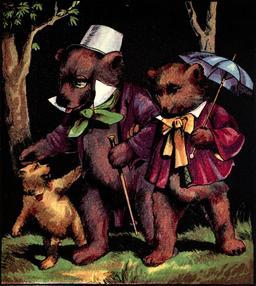 Le conte anglais des trois ours en 1888, page 5. Source : http://data.abuledu.org/URI/5348793b-le-conte-anglais-des-trois-ours-en-1888-page-5