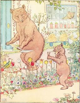 Le conte des trois ours en 1900, p. 7. Source : http://data.abuledu.org/URI/53483bf2-le-conte-des-trois-ours-en-1900-p-7