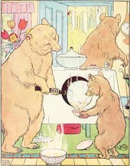 Le conte des trois ours en 1900, p. 10. Source : http://data.abuledu.org/URI/53483d04-le-conte-des-trois-ours-en-1900-p-10