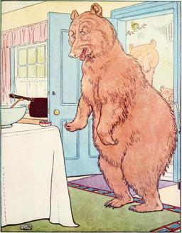 Le conte des trois ours en 1900, p.17. Source : http://data.abuledu.org/URI/53485f15-le-conte-des-trois-ours-en-1900-p-17