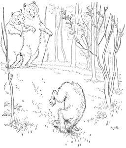 Le conte des trois ours en 1900, p. 11. Source : http://data.abuledu.org/URI/534862ec-le-conte-des-trois-ours-en-1900-p-11
