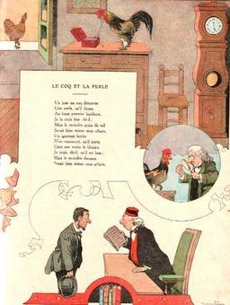Le coq et la perle. Source : http://data.abuledu.org/URI/5197f16f-le-coq-et-la-perle