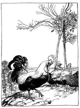 Le coq et le bijou. Source : http://data.abuledu.org/URI/517d5230-le-coq-et-le-bijou