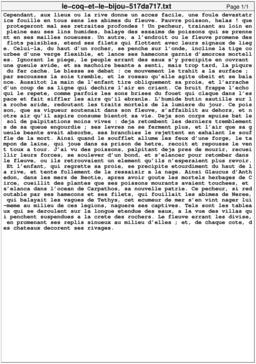 Le coq et le bijou. Source : http://data.abuledu.org/URI/517da717-le-coq-et-le-bijou