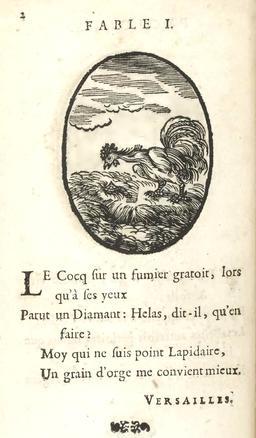 Le coq et le diamant. Source : http://data.abuledu.org/URI/59162661-le-coq-et-le-diamant
