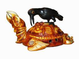 Le corbeau et la tortue. Source : http://data.abuledu.org/URI/54d1131f-le-corbeau-et-la-tortue