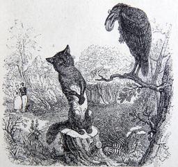 Le corbeau et le renard. Source : http://data.abuledu.org/URI/51f96fab-le-corbeau-et-le-renard