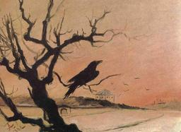Le corbeau sur sa branche en hiver en 1882. Source : http://data.abuledu.org/URI/5526f72e-le-corbeau-sur-sa-branche-en-hiver-en-1882