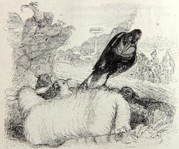 Le corbeau voulant imiter l'aigle. Source : http://data.abuledu.org/URI/51f98ace-le-corbeau-voulant-imiter-l-aigle