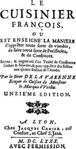 Le Cuisinier françois. Source : http://data.abuledu.org/URI/51a6534e-le-cuisinier-francois