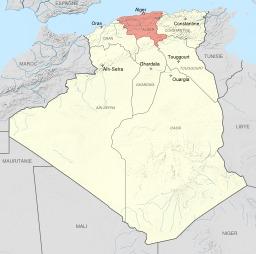 Le département d'Alger de 1934 à 1955. Source : http://data.abuledu.org/URI/51f308bc-le-departement-d-alger-de-1934-a-1955