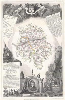 Le département d'Indre-et-Loire en 1847. Source : http://data.abuledu.org/URI/531ca04d-le-departement-d-indre-et-loire-en-1847
