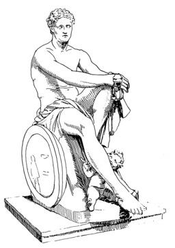 Le dieu de la guerre Arès. Source : http://data.abuledu.org/URI/53b958ef-le-dieu-de-la-guerre-ares-