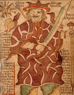 Le dieu Odin. Source : http://data.abuledu.org/URI/521a86fb-le-dieu-odin