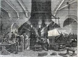 Le doge de Venise visitant les verreries de Murano en 1873. Source : http://data.abuledu.org/URI/56bb9b39-le-doge-de-venise-visitant-les-verreries-de-murano-en-1873