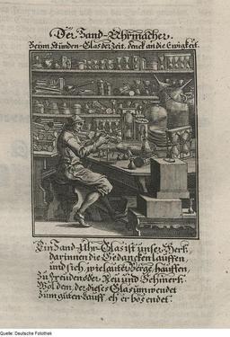 Le fafricant de sabliers. Source : http://data.abuledu.org/URI/524d1904-le-fafricant-de-sabliers