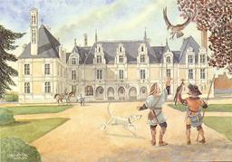 Le fauconnier du Château de Beauregard. Source : http://data.abuledu.org/URI/50e86c57-le-fauconnier-du-chateau-de-beauregard