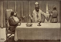 Le festin de Sancho Panza en 1908. Source : http://data.abuledu.org/URI/5963645f-le-festin-de-sancho-panza-en-1908