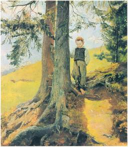 Le garçon dans les bois en 1860. Source : http://data.abuledu.org/URI/53367fbc-le-garcon-dans-les-bois-en-1860