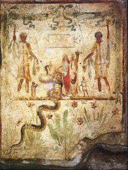 Le Génie de la maison dans l'antiquité. Source : http://data.abuledu.org/URI/50452a5c-le-genie-de-la-maison-dans-l-antiquite