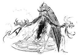 Le génie sert Aladin. Source : http://data.abuledu.org/URI/5045255c-le-genie-sert-aladin