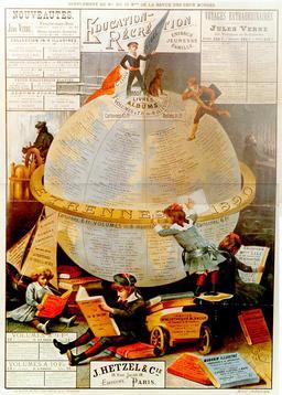 Le globe littéraire de la maison Hetzel. Source : http://data.abuledu.org/URI/565cb0c8-le-globe-litteraire-de-la-maison-hetzel