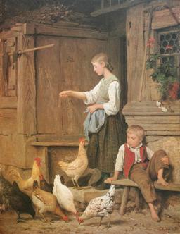 Le grain aux poules. Source : http://data.abuledu.org/URI/519fabf8-le-grain-aux-poules