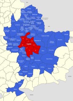 Le Grand Lyon en 2011. Source : http://data.abuledu.org/URI/51d09e9b-le-grand-lyon-en-2011