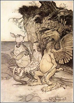 Le griffon et la tortue d'Alice. Source : http://data.abuledu.org/URI/51a87ce6-le-griffon-et-la-tortue-d-alice