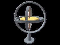 Le gyroscope de Foucault. Source : http://data.abuledu.org/URI/50a797d3-le-gyroscope-de-foucault