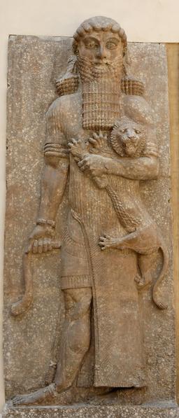 Le héros au lion. Source : http://data.abuledu.org/URI/545dea07-le-heros-au-lion