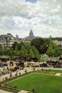 Le jardin de l'Infante en 1867 à Paris. Source : http://data.abuledu.org/URI/596bf521-le-jardin-de-l-infante-en-1867-a-paris