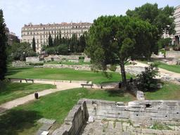 Le jardin des vestiges à Marseille. Source : http://data.abuledu.org/URI/54774628-le-jardin-des-vestiges-a-marseille