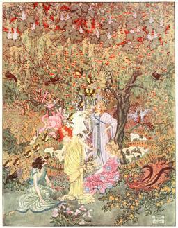 Le jardin du paradis d'Andersen en 1914 - 02. Source : http://data.abuledu.org/URI/53ca5aaf-le-jardin-du-paradis-d-andersen-en-1914-02