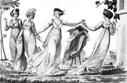Le jeu de colin-maillard en 1803. Source : http://data.abuledu.org/URI/52b3654b-le-jeu-de-colin-maillard-en-1803