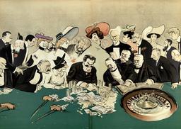 Le jeu de la roulette en 1920. Source : http://data.abuledu.org/URI/5861cc06-le-jeu-de-la-roulette-en-1920