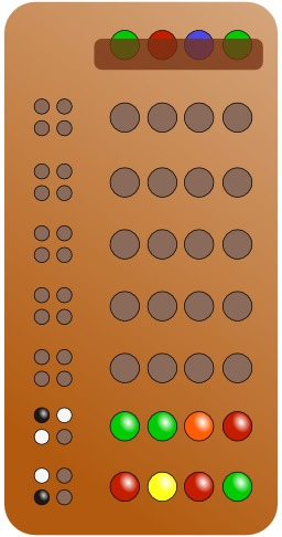 Le jeu de Mastermind. Source : http://data.abuledu.org/URI/50eaff12-le-jeu-de-mastermind