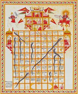 Le jeu des serpents et des échelles. Source : http://data.abuledu.org/URI/50eb221c-le-jeu-des-serpents-et-des-echelles