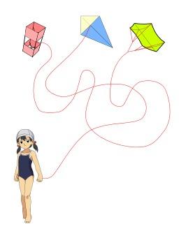 Le jeu du cerf-volant. Source : http://data.abuledu.org/URI/52b72320-le-jeu-du-cerf-volant