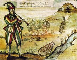 Le joueur de fifre de Hamelin et les rats. Source : http://data.abuledu.org/URI/507942f8-le-joueur-de-fifre-de-hamelin-et-les-rats
