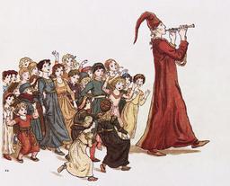 Le joueur de flûte de Hamelin, départ des enfants. Source : http://data.abuledu.org/URI/47f50e72-le-joueur-de-fl-te-de-hamelin-depart-des-enfants