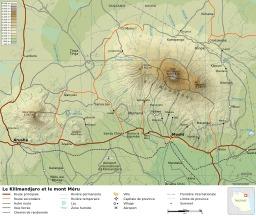 Le Kilimandjaro et le Mont Méru. Source : http://data.abuledu.org/URI/52d6bac9-le-kilimandjaro-et-le-mont-meru