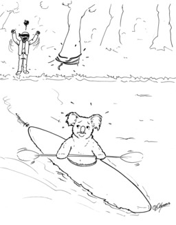 Le koala s'échappe. Source : http://data.abuledu.org/URI/536f4941-le-koala-s-echappe