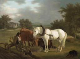 Le laboureur et sa charrue. Source : http://data.abuledu.org/URI/520e40de-le-laboureur-et-sa-charrue