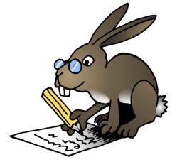 Le lapin écrivain du terrier d'Abulédu. Source : http://data.abuledu.org/URI/5878260f-le-lapin-ecrivain-du-terrier-d-abuledu