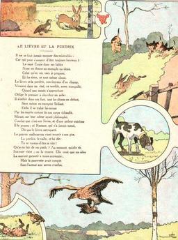 Le lièvre et la perdrix. Source : http://data.abuledu.org/URI/5197f744-le-lievre-et-la-perdrix