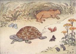 Le lièvre et la tortue. Source : http://data.abuledu.org/URI/51963b70-le-lievre-et-la-tortue