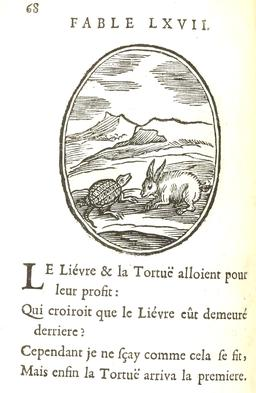 Le lièvre et la tortue. Source : http://data.abuledu.org/URI/591649c9-le-lievre-et-la-tortue